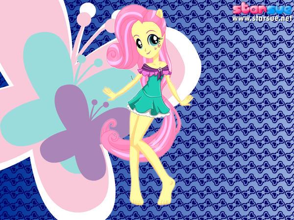 Fluttershy in her new Gala dress