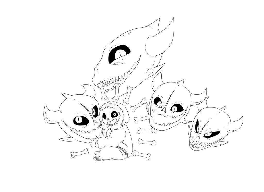 Line Art Creator : Sans line art by creatorofcastell on deviantart