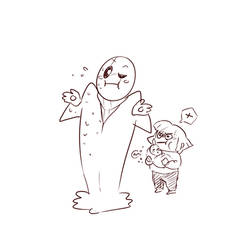 DeterminationTale Gaster, Chara and baby Sans
