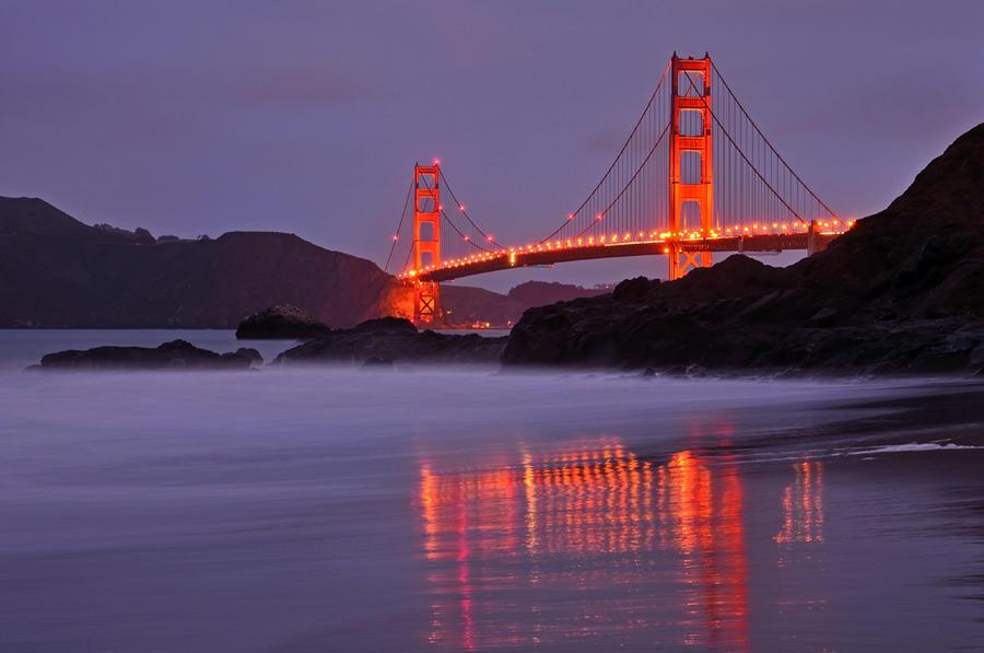 Golden Gate glow by yo13dawg