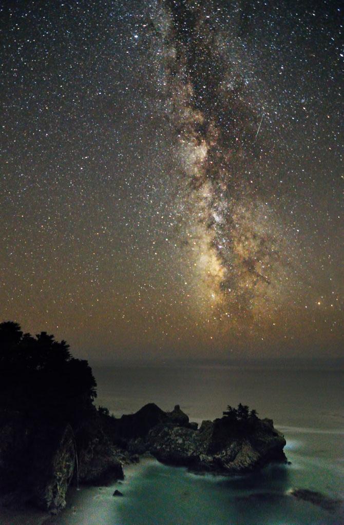 McWay Falls shooting star by yo13dawg
