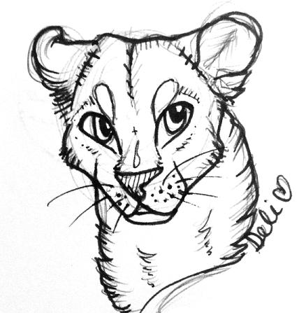 [sketch] - lioness by DelanieDark