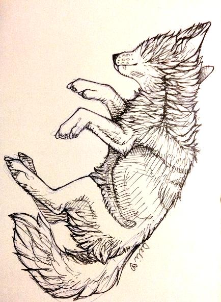[sketch] - falling by DelanieDark