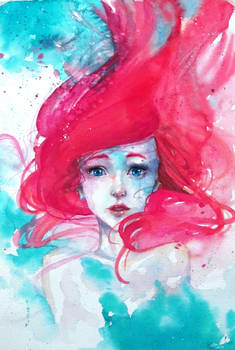 Ariel Mermaid has no tears, therefore suffers more
