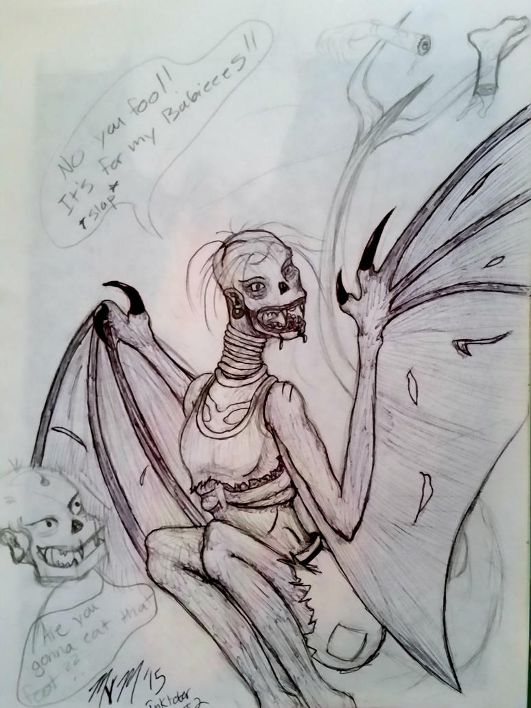 Flying Zombies! INKTOBER 2 by Antebelle