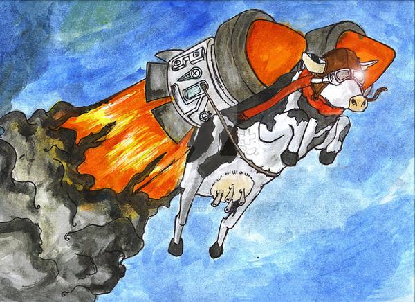 Rocket Cow By Techno Sheep On Deviantart