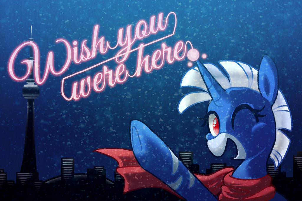 Wish your were here, at CANterlot Con by Dezmar