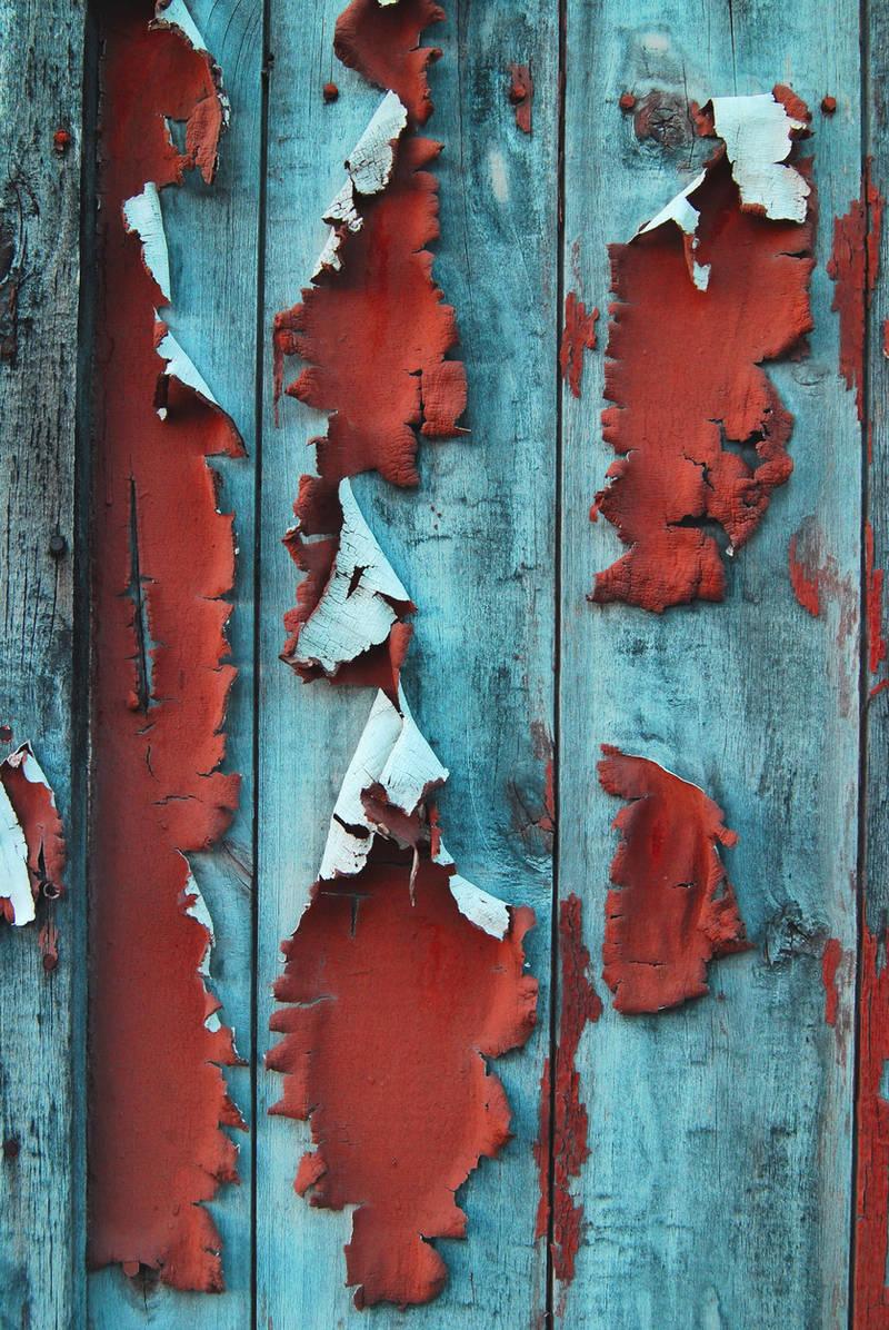 Wood Paint Peeling III by LogicalXStock