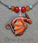 Stripey dragon by metazoe
