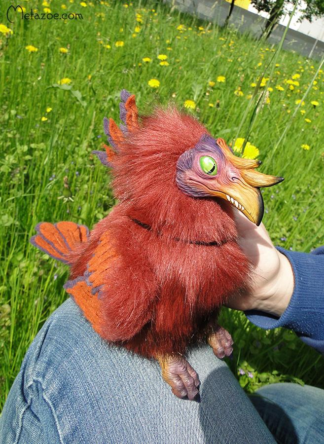 Prehistoric chicken doll by metazoe