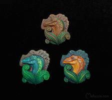 Colorful Raptors by metazoe