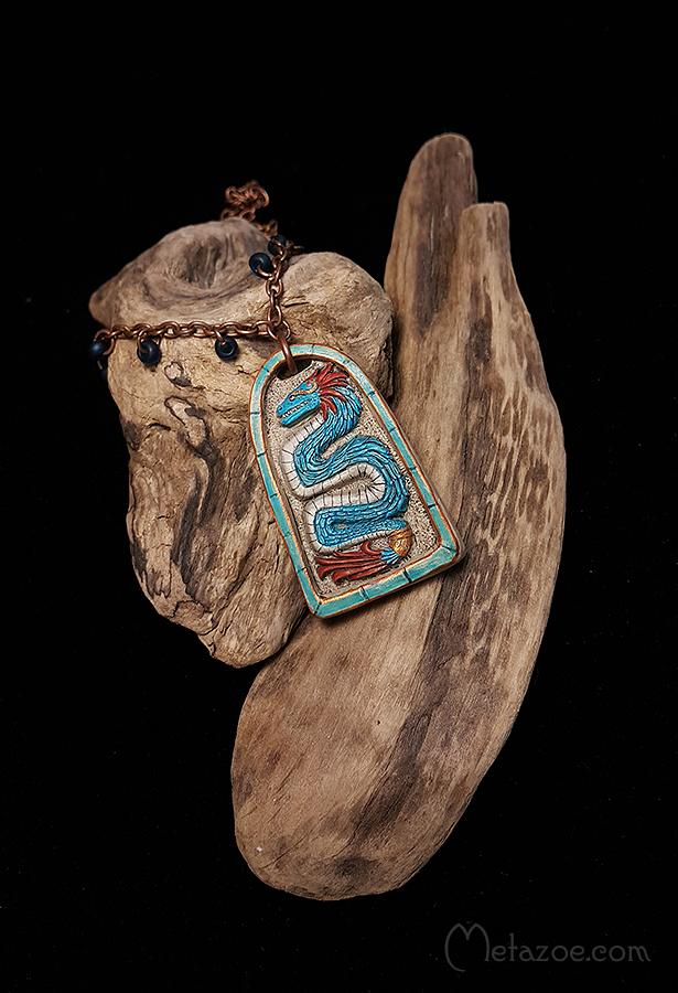 Quetzalcoatl pendant by metazoe