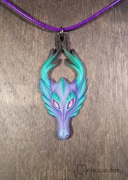 Purple-teal fawn