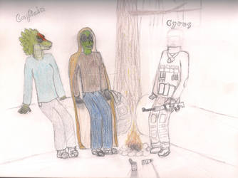 me and my friends camping (still unfinished) by Samtaynov