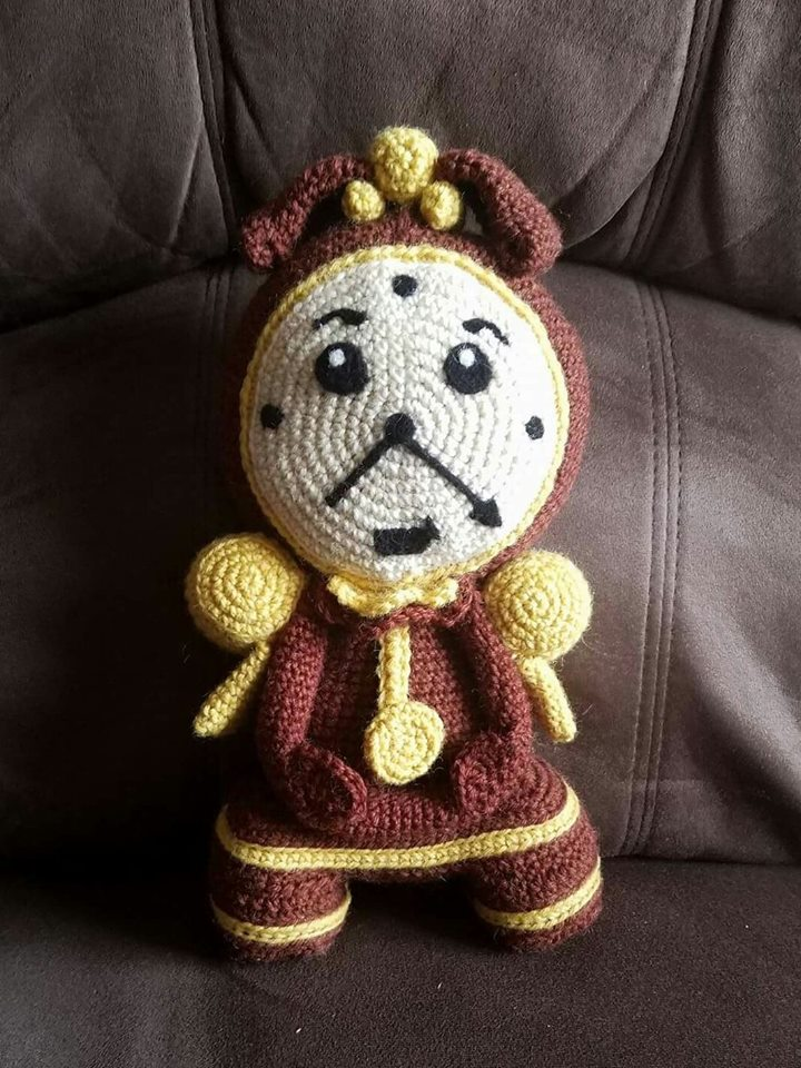 Crochet Cogsworth by AmandaJayne00