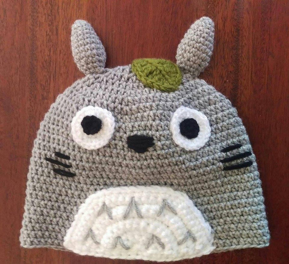 Totoro Crochet Beanie by AmandaJayne00