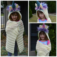 Hooded Unicorn Blankets