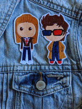 Rose and The Doctor Iron-on Patch