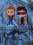 Rose and The Doctor Iron-on Patch by AmandaJayne00