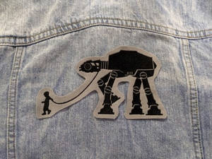 Walk Like an AT-AT Iron-on Patch