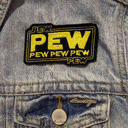 Pew Pew Iron on Patch