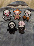 Horror Icon Iron-on patches by AmandaJayne00