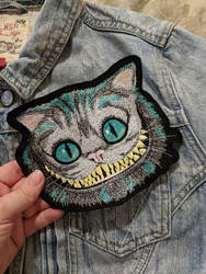 Cheshire Cat Iron On Patch