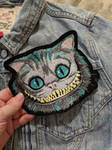 Cheshire Cat Iron On Patch by AmandaJayne00