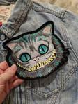 Cheshire Cat Iron On Patch by AmandaJayne00