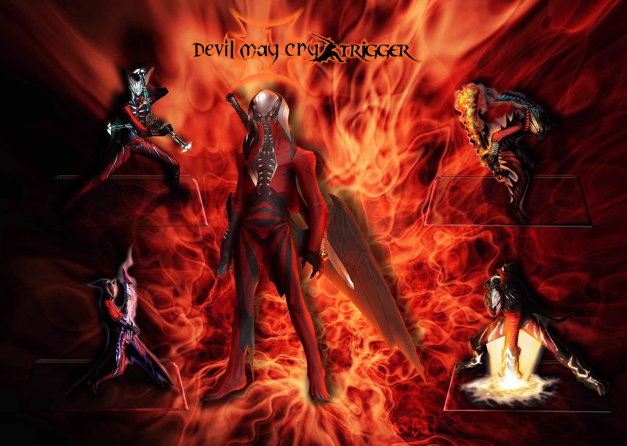 Dante's Devil Trigger Forms by Taitiii on DeviantArt