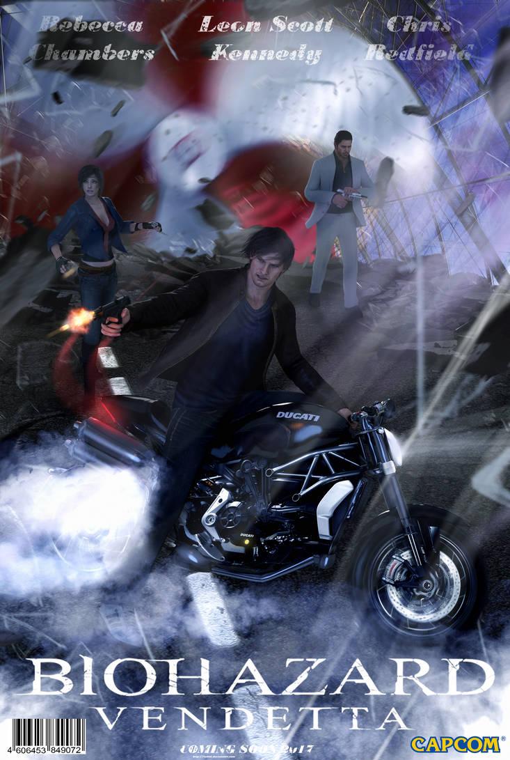 resident evil vendetta leon motorcycle