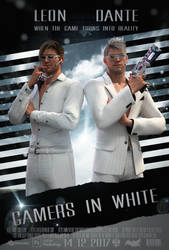 Gamers in white
