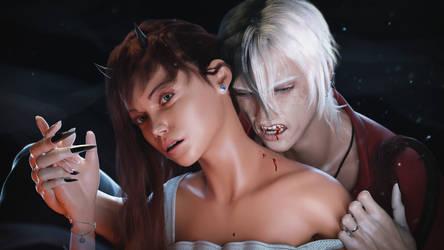 Elijah and Kathrina by Taitiii