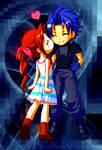 Aeris and Zack