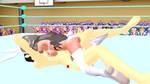 Hot Anime Ballbusting Ryona Mixed Wrestling MMD 10