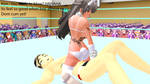 Hot Anime Ballbusting Ryona Mixed Wrestling MMD 12