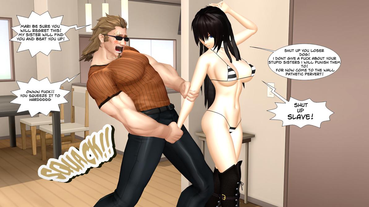 Sexy Anime Ecchi Mari Ballbusting Ray Ryona MMD 14 by MrDaggerIsGodFather
