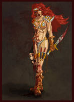 Red Sonja at Last! by drawnblud