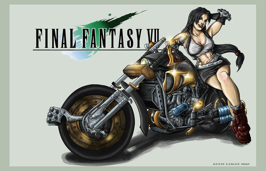 Tifa and the Hardy-Daytona by drawnblud