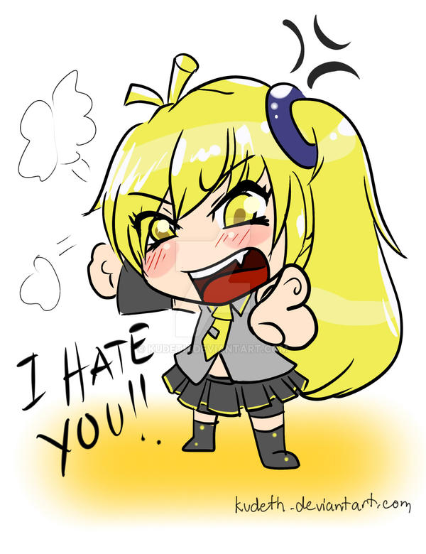 chibi akita neru i hate you by kudeth on deviantart