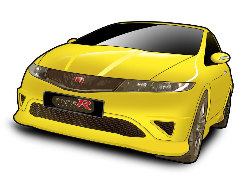 Honda Civic Type R - Vector -1 by fuzzyisking