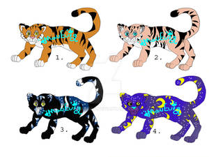 Tiger Adopts Set 1 (OPEN) by MauEvig