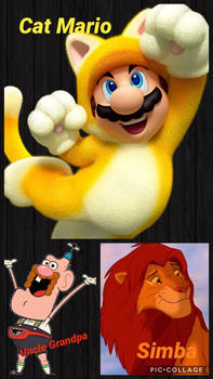 (CAT) Simba, Cat Mario, and Uncle Grandpa