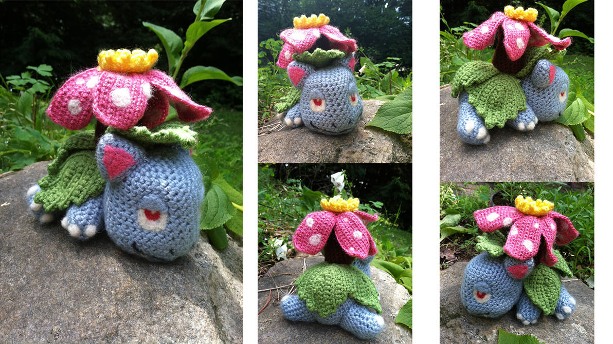 Crocheted Venusaur by Fisume