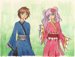 07-GHOST| Japanese Teito and Ouka by Rhea-LOCKWING