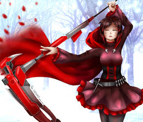RWBY| Red Like Roses ~redo~ by Rhea-LOCKWING
