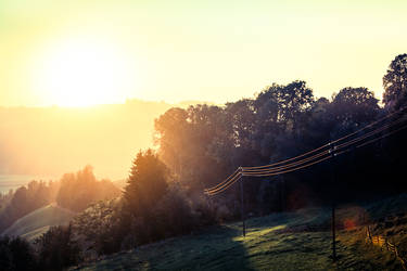 The Sunset of the Swiss Emmental by eightcore