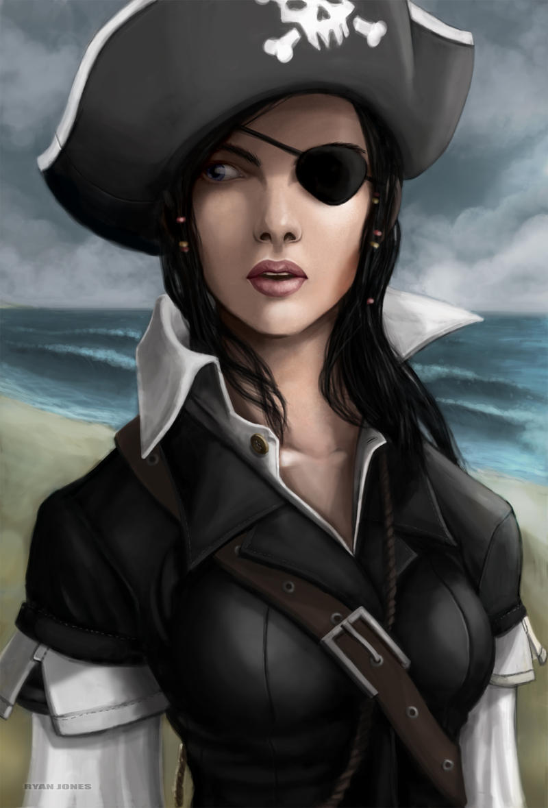 the pirate dressed in black by raven1303