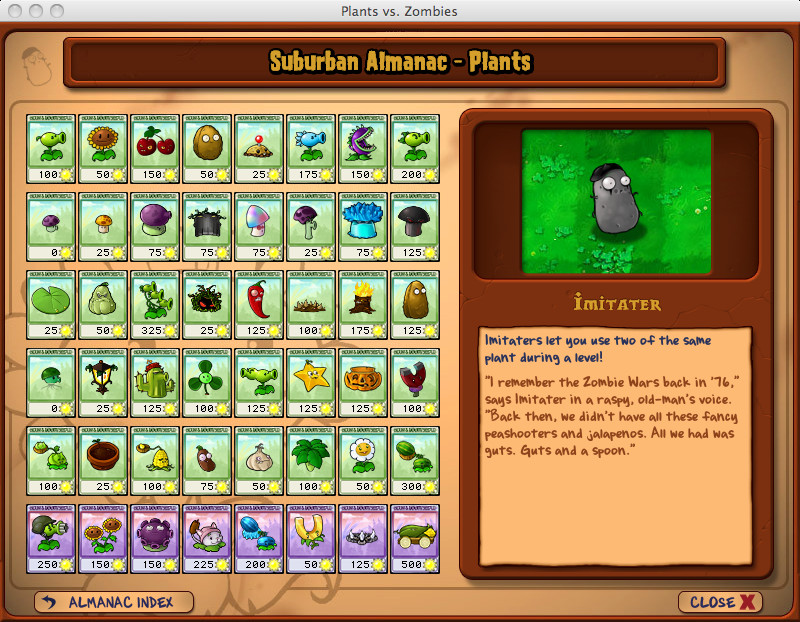 Plants vs zombies almanac by mariowarioluigiwalui