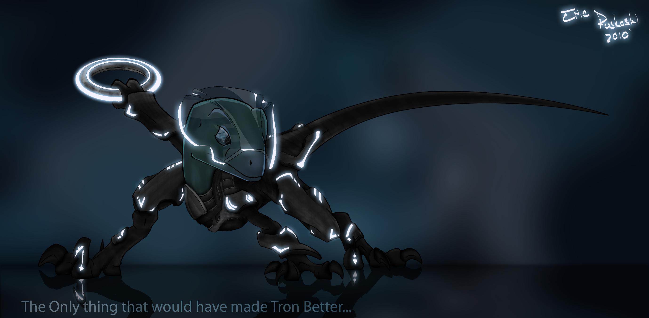 Tron Raptor by RaptorPadawon